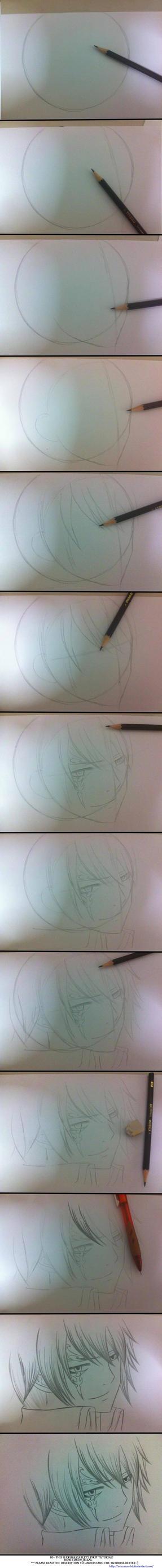 How I drew Jellal- My first tutorial :O by Ryuukeru