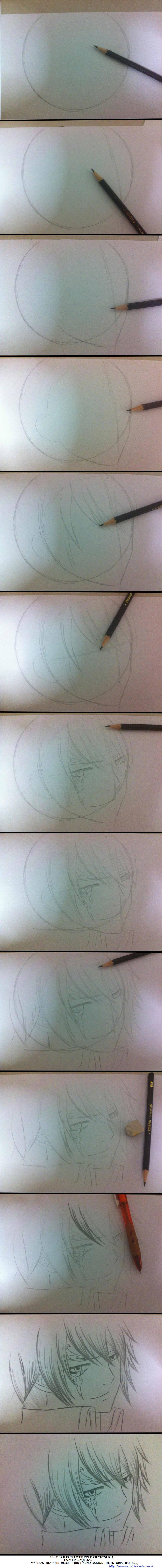 How I drew Jellal- My first tutorial :O by Ryuukeru