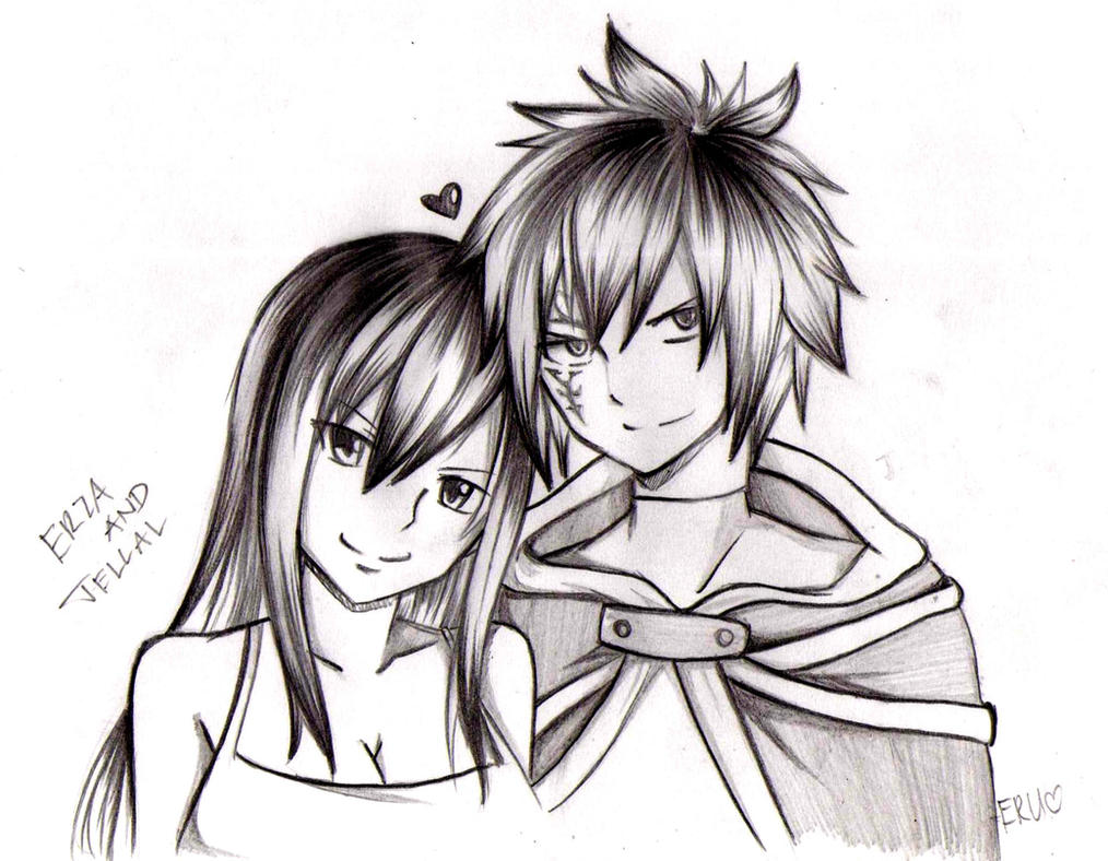 Jellal And Erza by Ryuukeru on DeviantArt