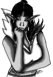 Skyrim: Encounter with the Madgod by sares