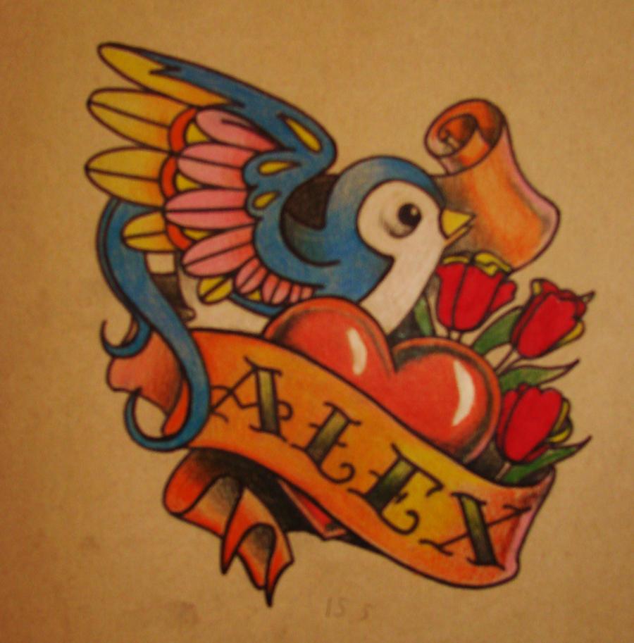 Traditional Hummingbird Tattoo Sketch For By Xenija88