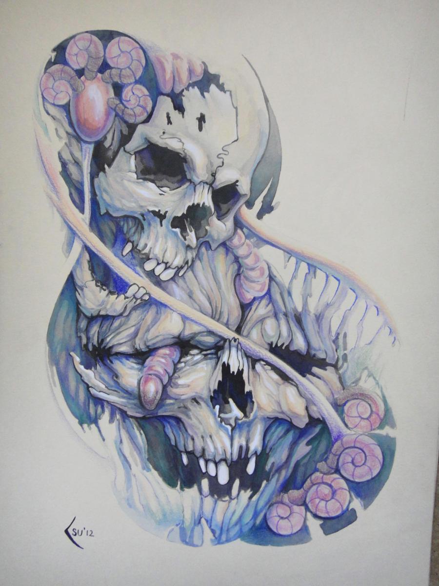 tattoo design skulls by xenija88 designs interfaces tattoo design 2012 ...