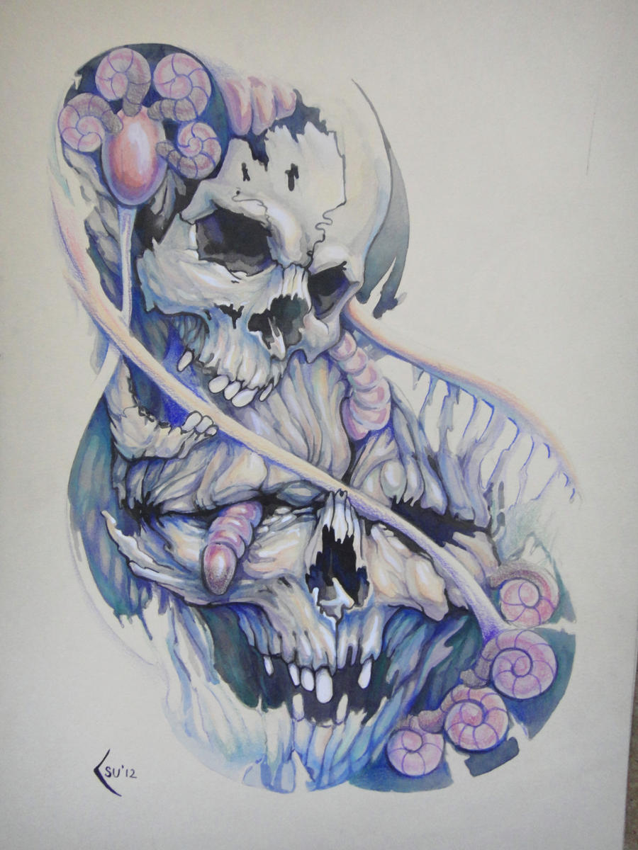 Tattoo design Skulls by Xenija88 on DeviantArt