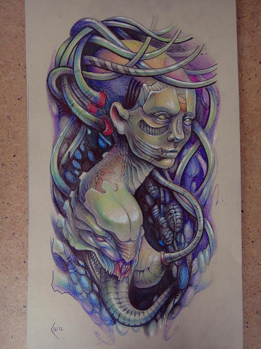 tattoo design biomechanical shoulder by xenija88 on deviantart. Black Bedroom Furniture Sets. Home Design Ideas