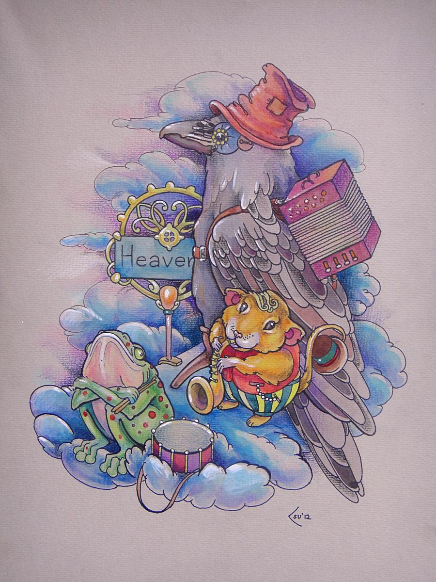 Tattoo design - Trio in the Sky with Diamonds by Xenija88