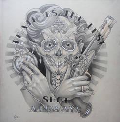 Tattoo design - Death is the best shot