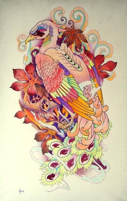 Tattoo design - Phoenix by Xenija88