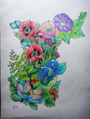 Tattoo design - Forest flowers (commission) by Xenija88