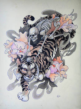 Tattoo design - Riders