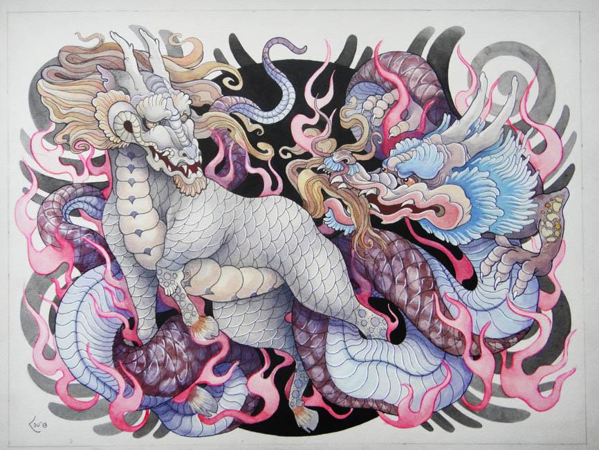 Kirin and Dragon by Xenija88