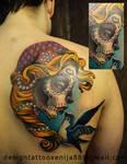 Tattoo - Sugar Girl and swallow