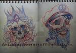 Skulls sketchs for tattoo
