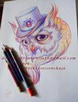 Tattoo design - Owls head