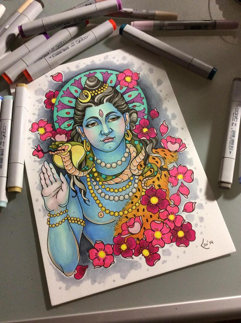 Tattoo design - Shiva by Xenija88