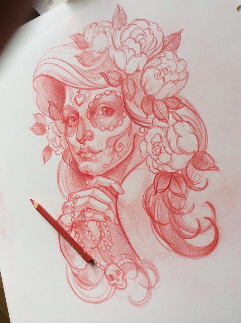 Tattoo sketch by Xen