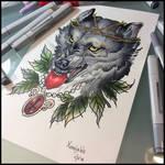 Tattoodesign -Wolf