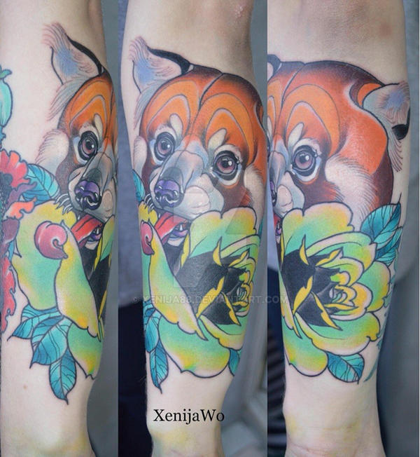 Redpanda Tattoo by Xenija88