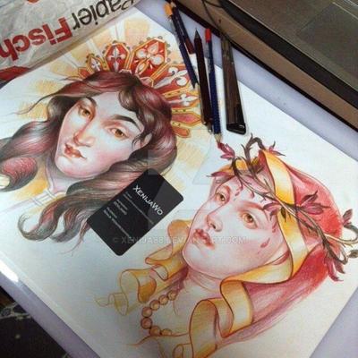 Nuns faces tattoo designs by Xenija88