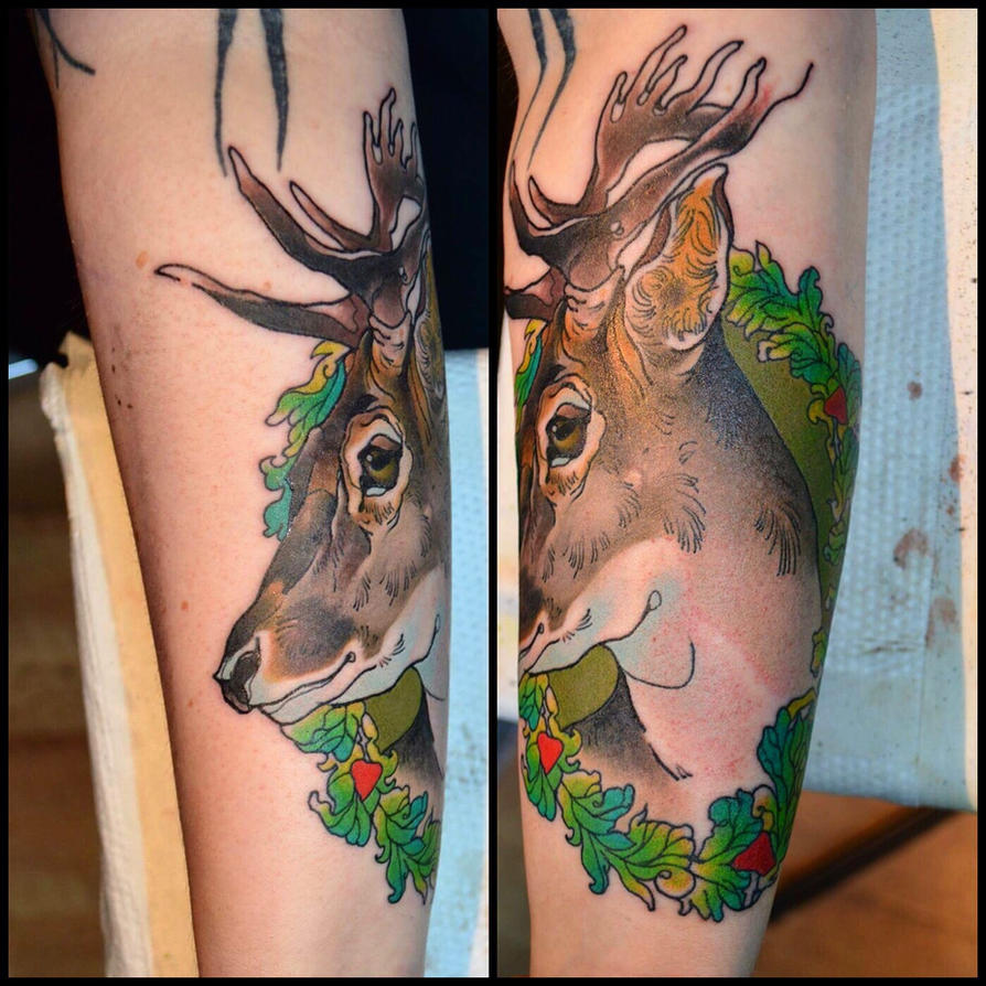 Tattoo Deer  by Xenija88