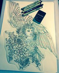 Tattoo design - Sirin