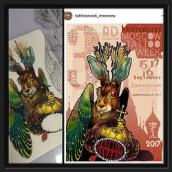 Poster for Moscow Tattoo Week 2017