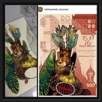 Poster for Moscow Tattoo Week 2017 by Xenija88