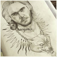 John Snow tattoo design
