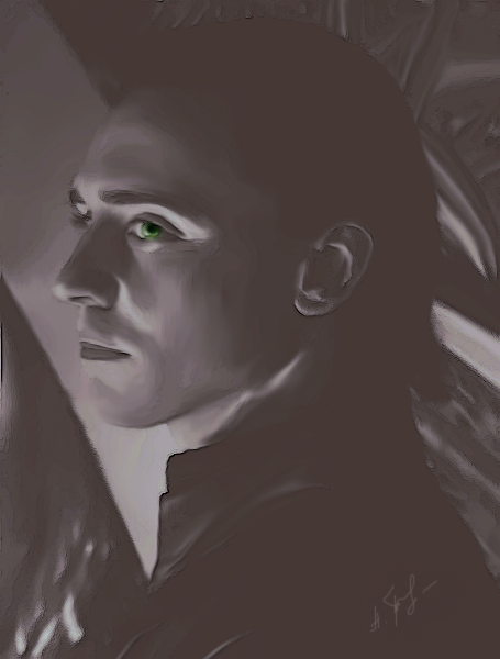 Loki black-and-white by AlessandraTheBest