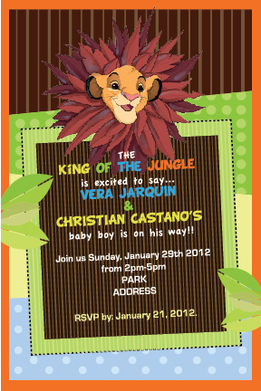 Lion King Baby Shower Invitation By LukiDesigner ...