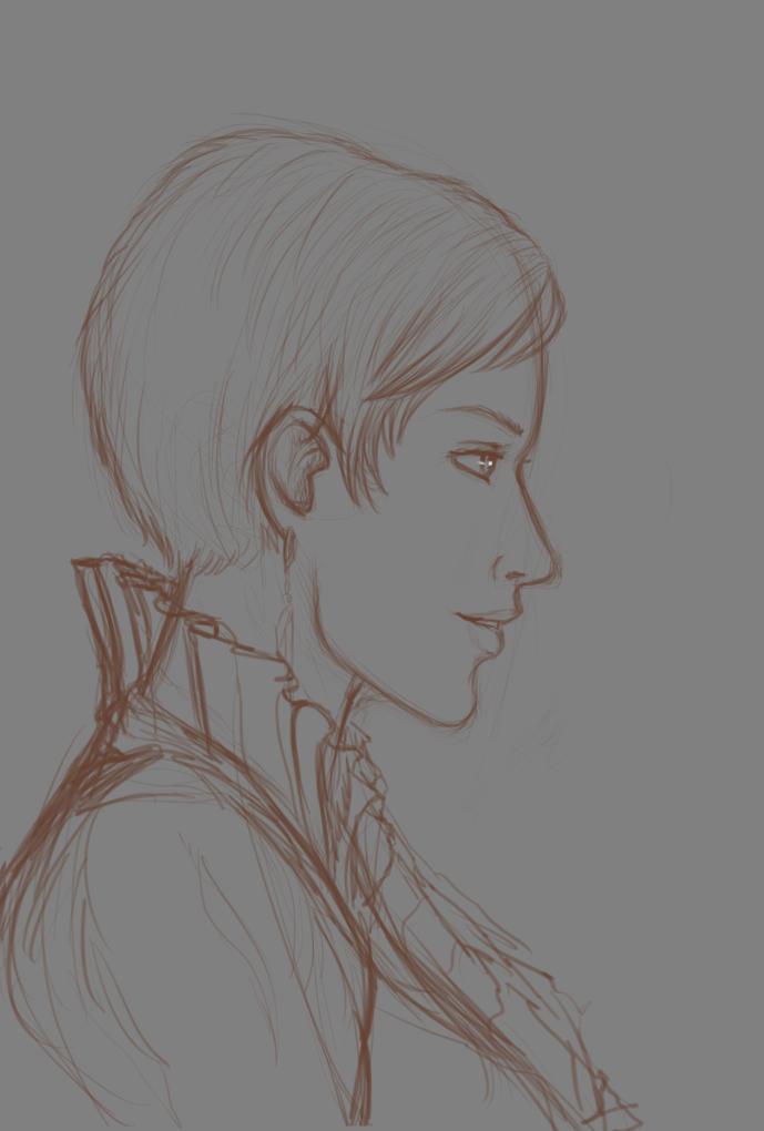 Sketch - Lady Ulrika by Gradan