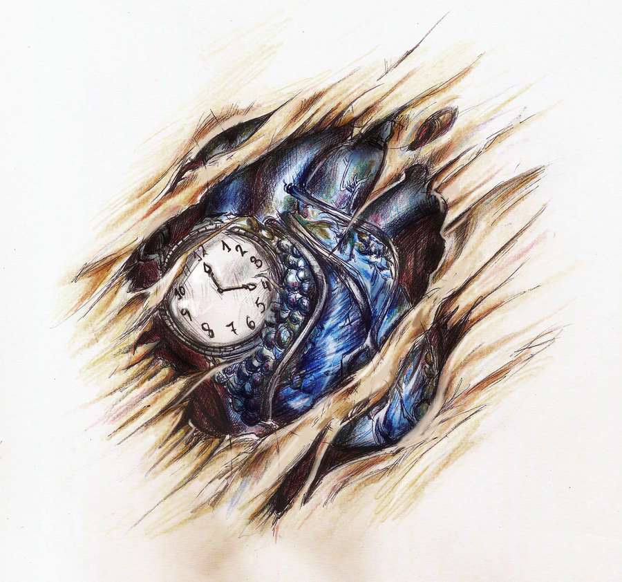 Clockheart Tattoo Design By Hisakichan On Deviantart