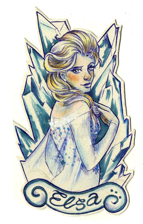 Elsa [Frozen's Fanart] by HisakiChan