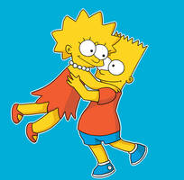 Bart And Lisa by rezuri-dono