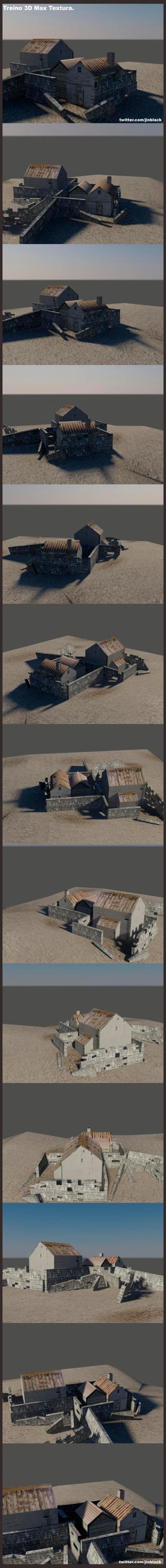 Treino de 3DMax. Casa Ruinas. by JinBlack
