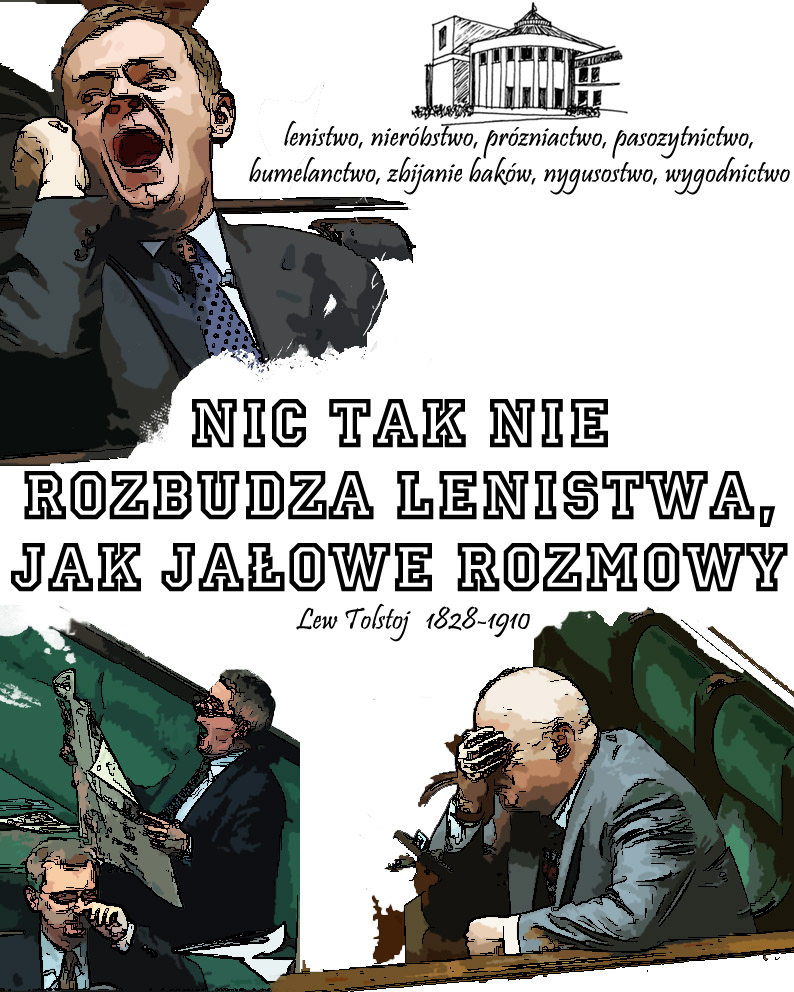 Poster - Laziness in the Sejm by Swoboda