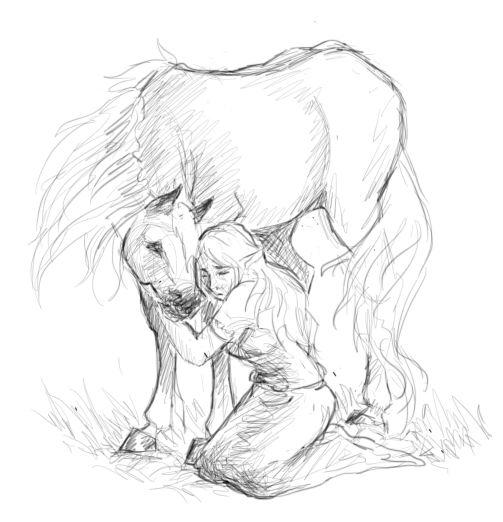 Malon and Epona by PrincessMalon