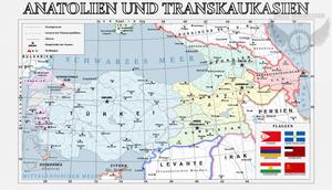 Map of Anatolya and South Caucasus