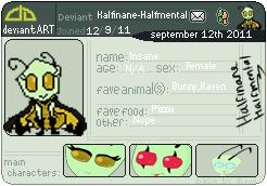 Deviant Art badge thing by HalfInane-HalfMental
