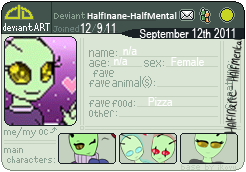 Deviant Art badge thing. by HalfInane-HalfMental