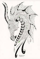 ColorMe - Dragon Head by AndromedasWitchery