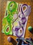 Lantern Dragons Green Up - Commission