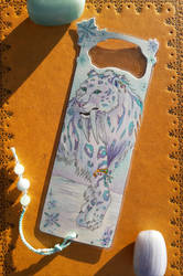 Sabertiger Bookmark - Commission by AndromedasWitchery