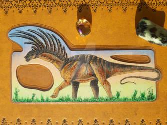 Bajadasaur Pronuspinax Bookmark Commission