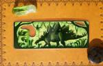Stegosaur Bookmark by AndromedasWitchery