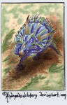Triceratops 152 ATC (OPEN for TRADE) by AndromedasWitchery