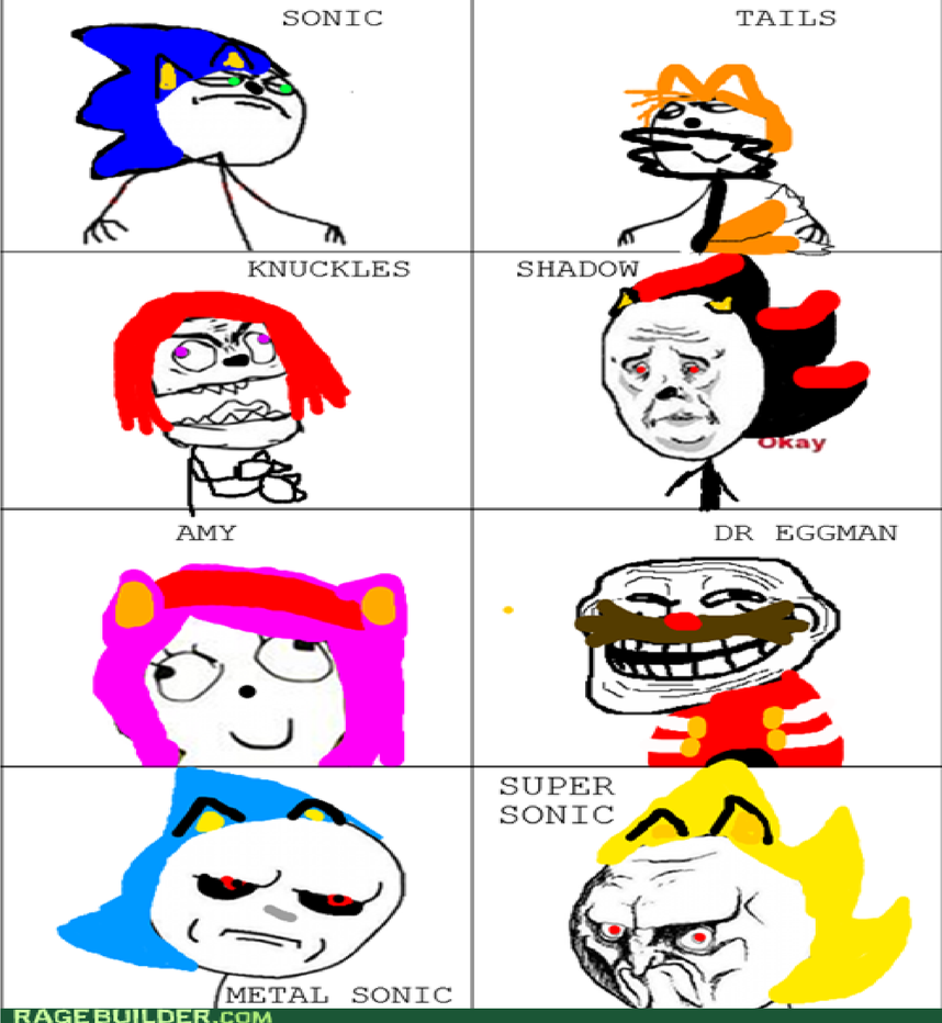 Funny Meme Characters : Sonic characters as memes by hypersonic on deviantart