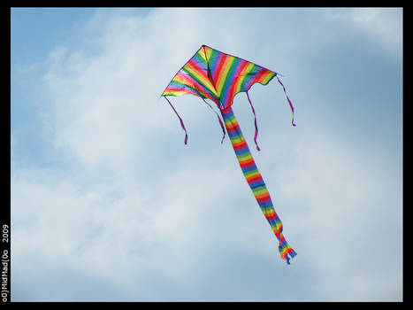 Kite in the clouds 2