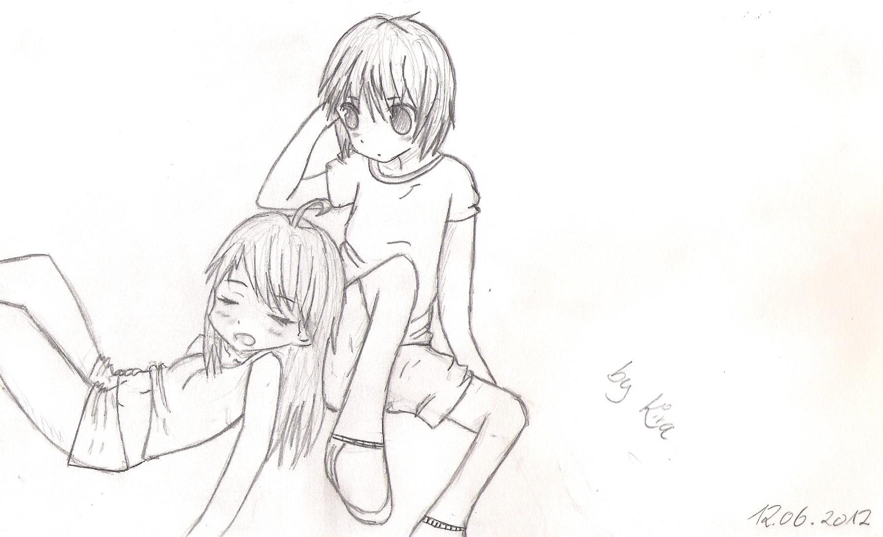 Cute Anime Couple By KiraKuromori On DeviantArt