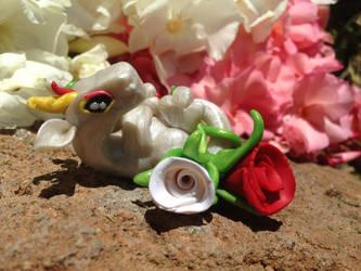 Baby Garden Hatchling with Roses by Mymonkeysocks