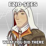 Ezio sees... by blueToaster